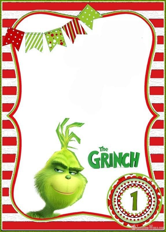 Grinch First Birthday Invitation Template - Grinch First Birthday Invitation Template