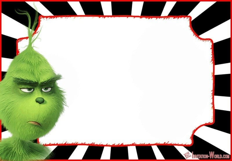 Grinch Invitation Empty 150x150 - Grinch First Birthday Invitation Template