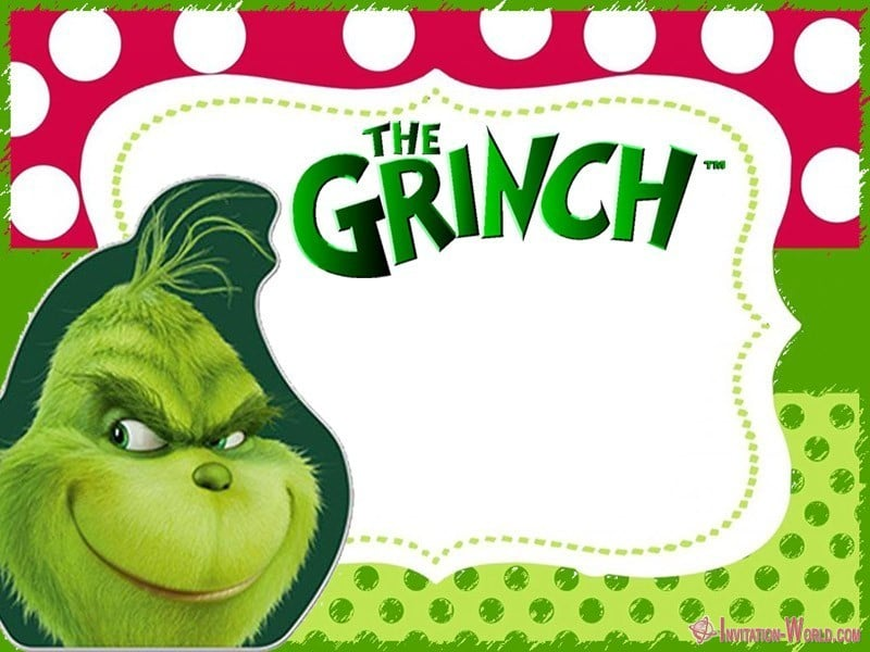 How the Grinch Stole Christmas Invitation - The Grinch 2018 Invitation Cards