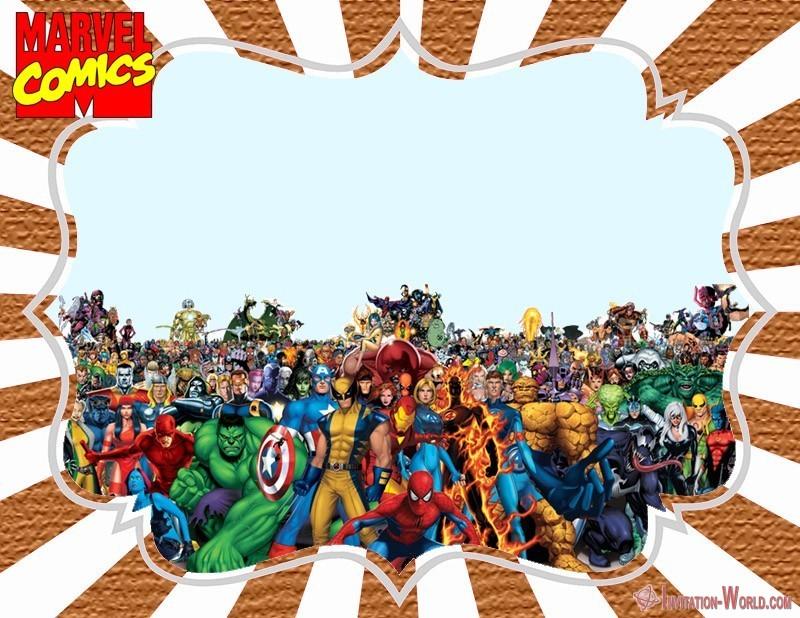 Marvel Comics Superhero Invitation - Marvel Comics Superhero Invitation