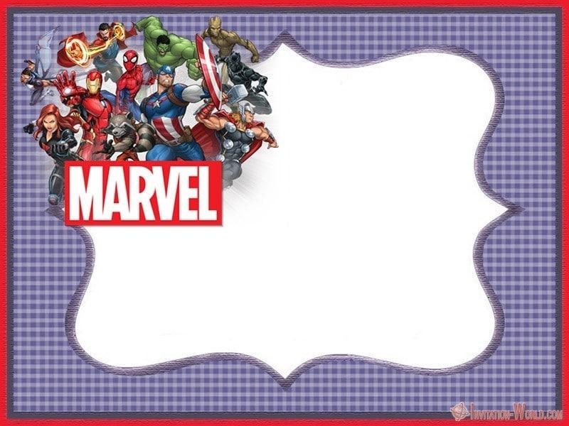 Marvel Superheroes Invitation Template - Marvel Superheroes Invitation Template