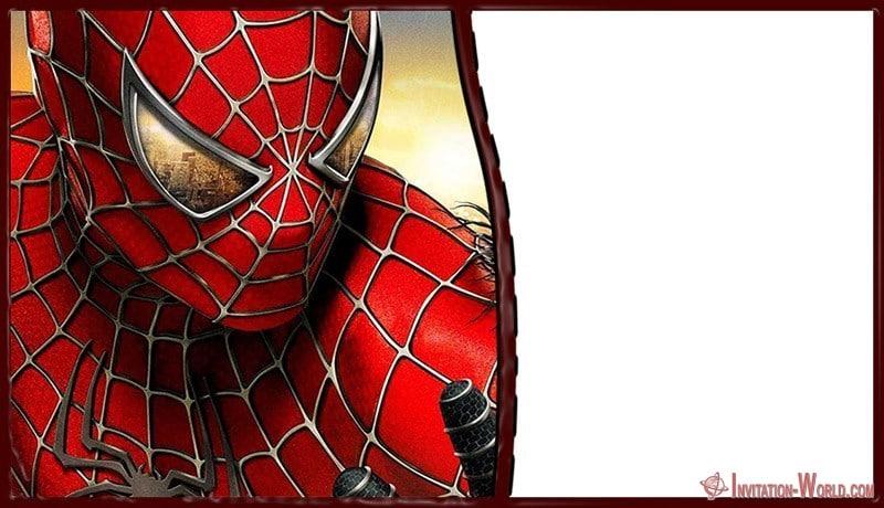 Spiderman Invitation Card Free Online 150x150 - Marvel Superheroes Invitation Template
