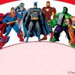 Superheroes 150x150 - Superheroes Blank Template