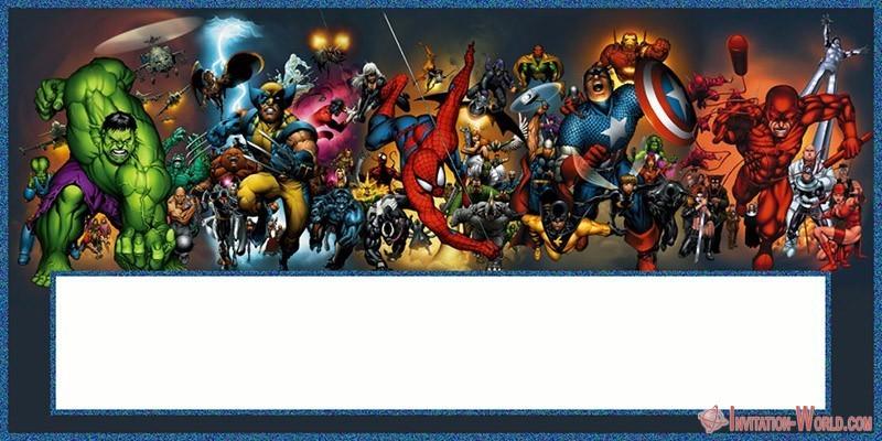Superheroes Blank Template - Superheroes Blank Template