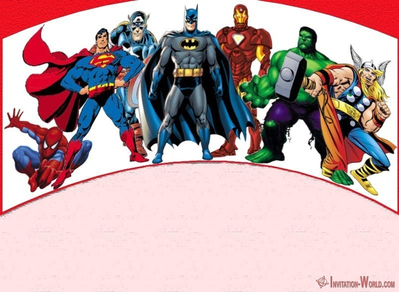 Superheroes - 11+ Superheroes Invitations Templates You'd Go Crazy For