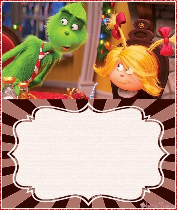 The Grinch 2018 Printable Invitation - The Grinch 2018 Invitation Cards
