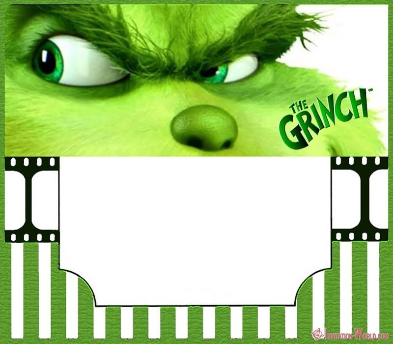 The Grinch Party Invitation - The Grinch 2018 Invitation Cards