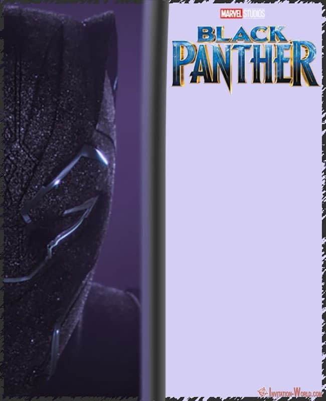 Black Panther Invitation Card Free Download - Free Printable Black Panther Invitation Templates
