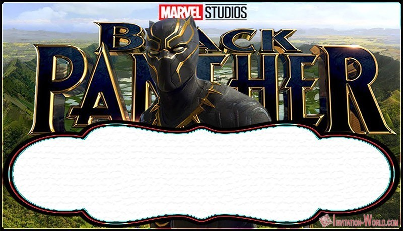 Black Panther Template Design - Free Printable Black Panther Invitation Templates
