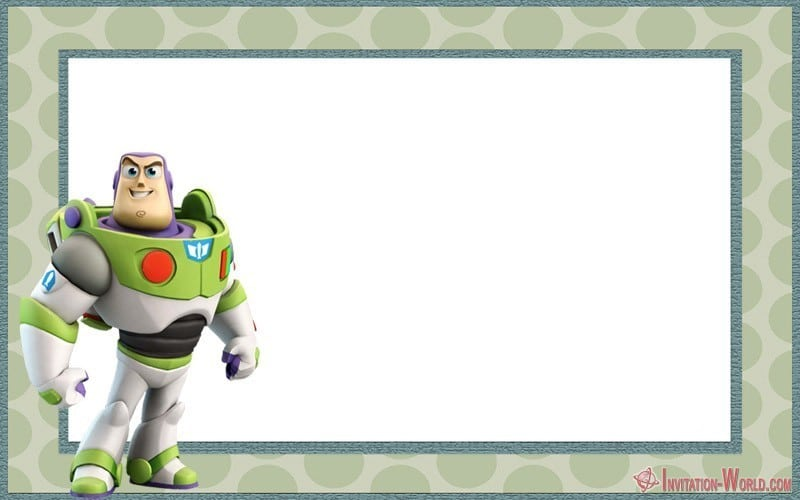 Buzz Lightyear Toy Story Free Invite - Toy Story Invitations - Free Download
