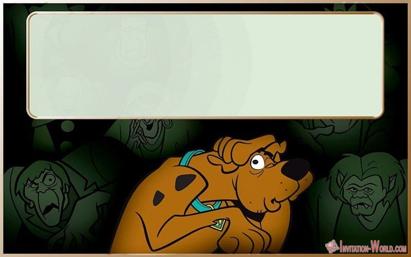 Editable Scooby Doo Template - Scooby-Doo Birthday Invitation - Blank Templates