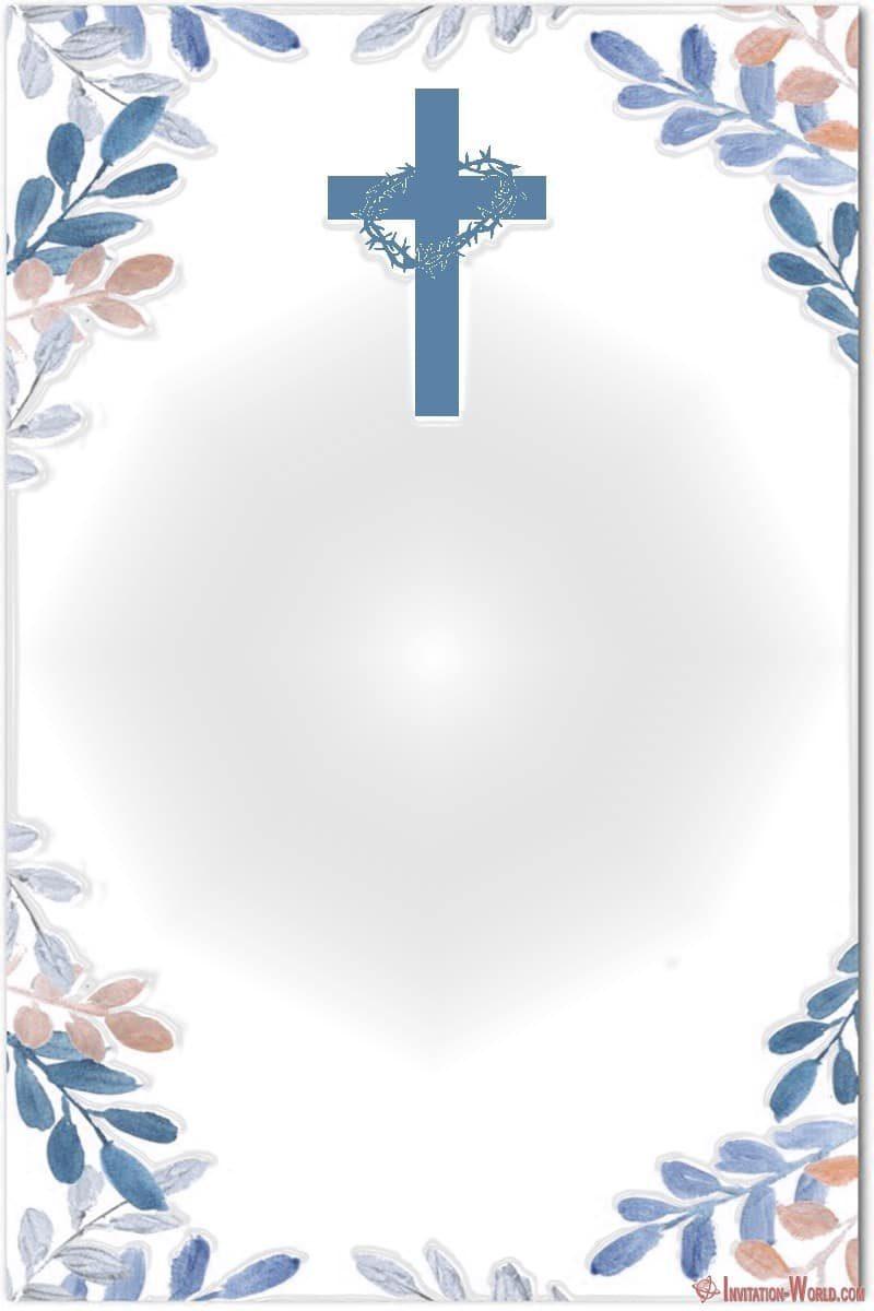 First Communion Invitation Blank 800x1200 - First Communion Invitation Cards