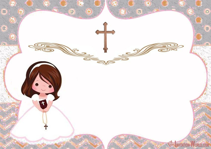 First Communion Invitation Template Free - First Communion Invitation Cards