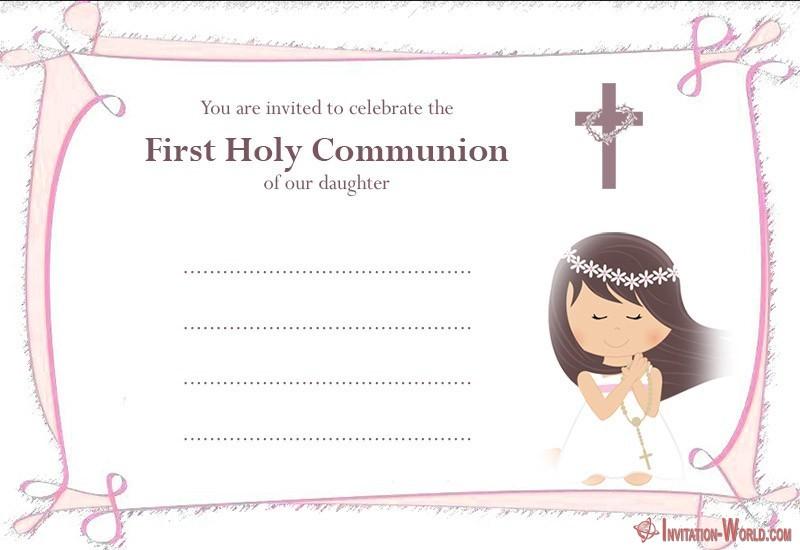 First Communion Invitation - First Communion Invitation