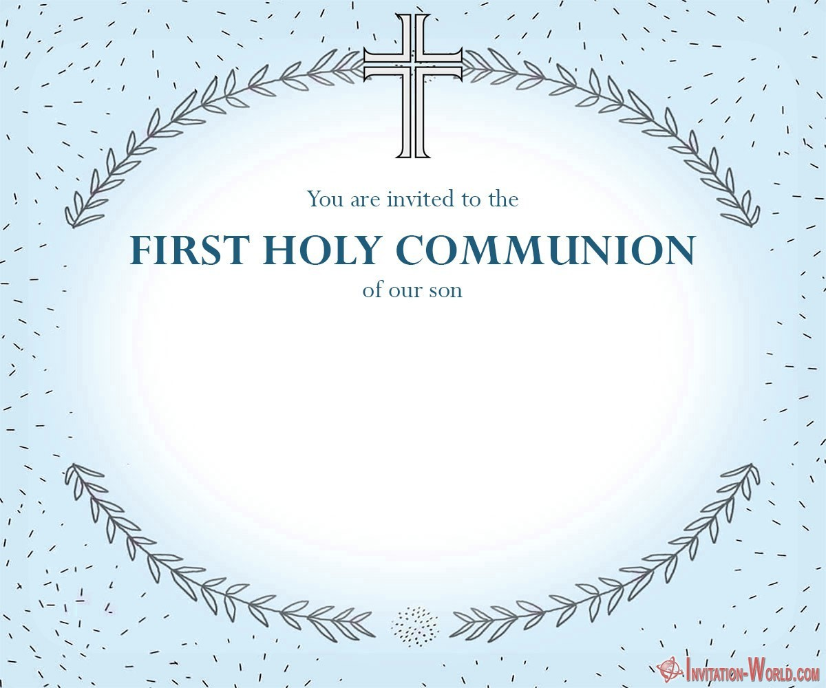 First Communion invitation for boy 1200x1000 - First Communion Invitation Cards