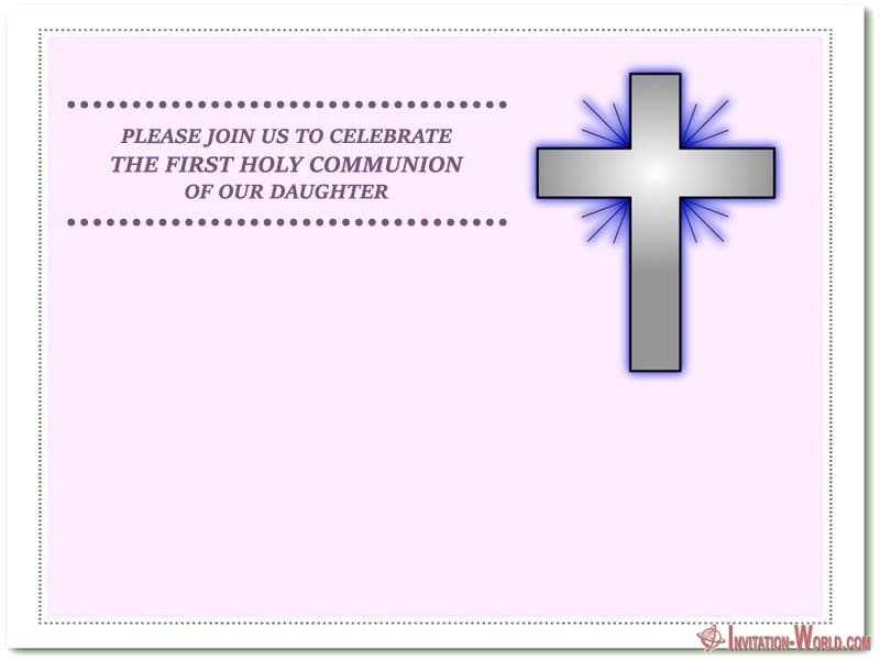 First Holy Communion invitation card - First Communion Invitation Cards