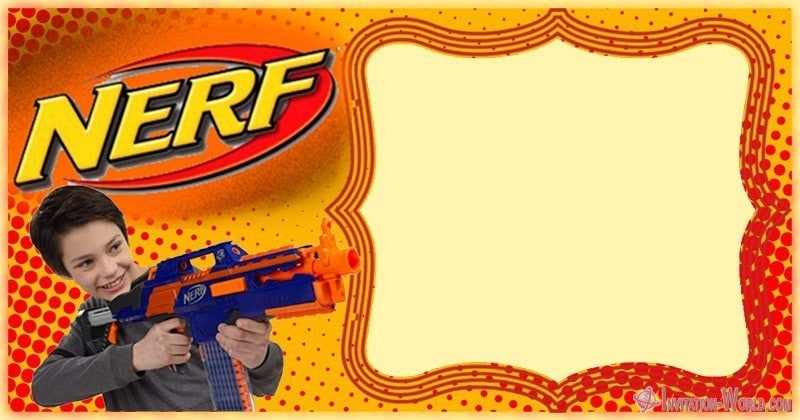 photograph regarding Free Printable Nerf Birthday Invitations identify Nerf Bash Invites 5 Absolutely free Templates Invitation Worldwide