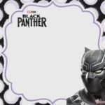 Free Printable Black Panther invitations template