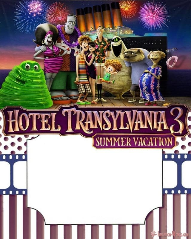 Hotel Transylvania 3 Birthday Invitation Template - 8+ FREE Hotel Transylvania Invitation Templates