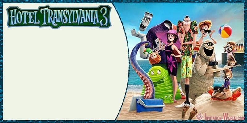 Hotel Transylvania 3 Birthday Invitation - Hotel Transylvania 3 Birthday Invitation