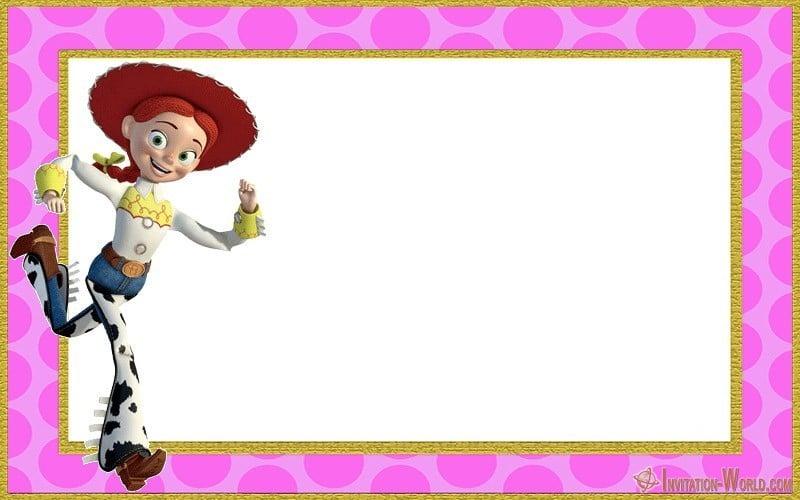 Jessie Toy Story printable invitation card - Jessie Toy Story printable invitation card