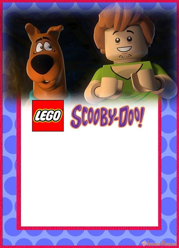 Lego Scooby Doo Party Invitation - Scooby-Doo Birthday Invitation - Blank Templates
