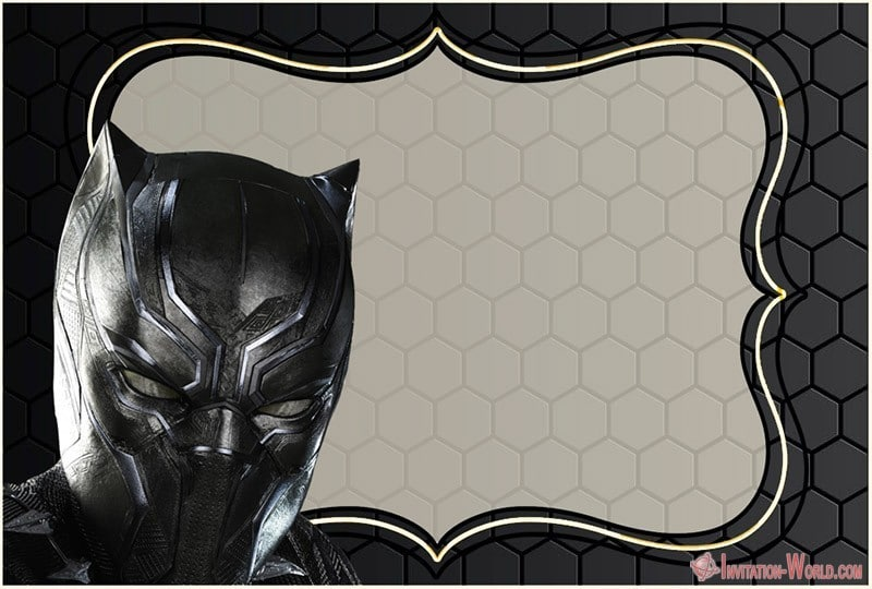 Marvel Black Panther Invitation Design Free - Marvel Black Panther Invitation Design Free