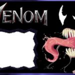Marvel Venom Invitation Blank