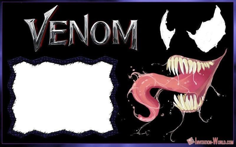 Marvel Venom Invitation Blank 150x150 - Free Venom 2018 Invitation Template