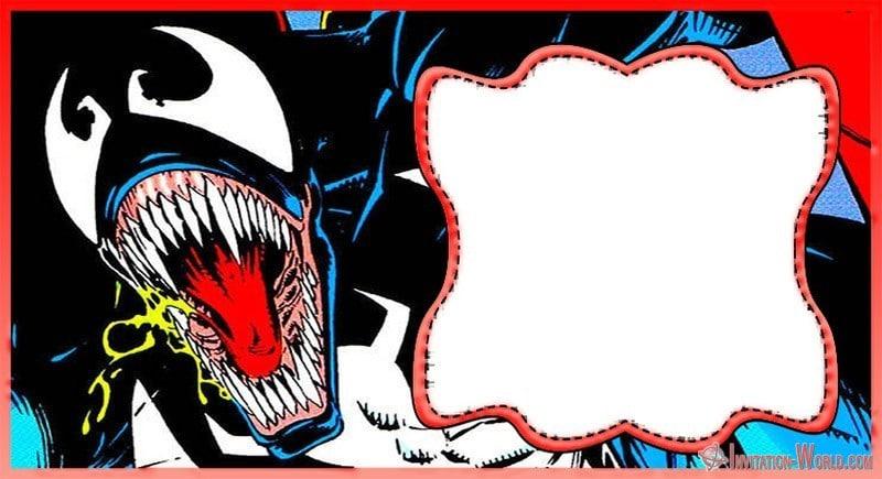Marvel Venom Invitation Card - Venom Invitation Templates - Free and Printable