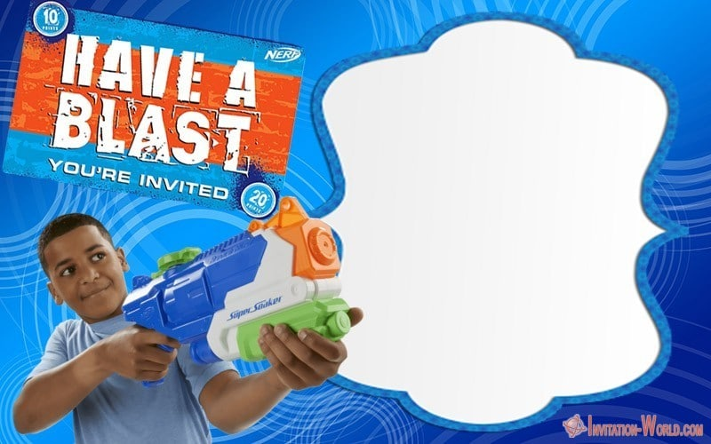 Nerf Gun Party Invitations Template Free - Nerf Party Invitations - 5 FREE Templates