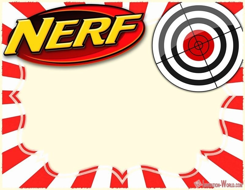 Nerf War Party Invitation Card - Nerf Party Invitations - 5 FREE Templates