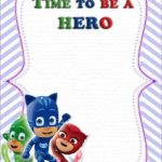 PJ Masks Birthday Party Invitation 150x150 - PJ Mask Blank Template