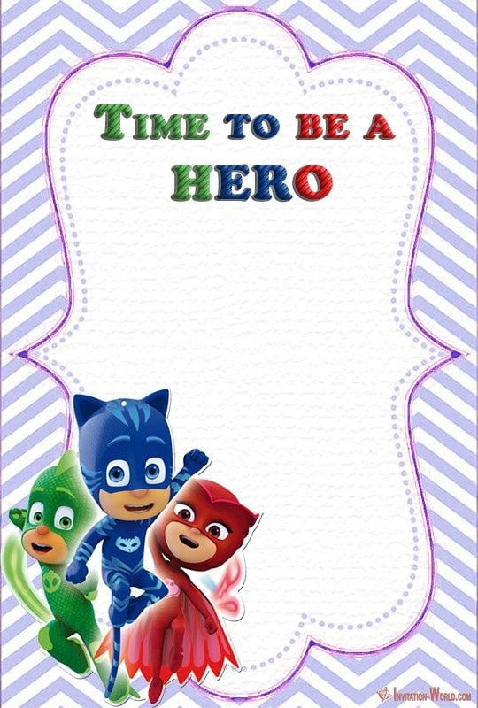 PJ Masks Birthday Party Invitation - Free PJ MASKS Invitation Cards