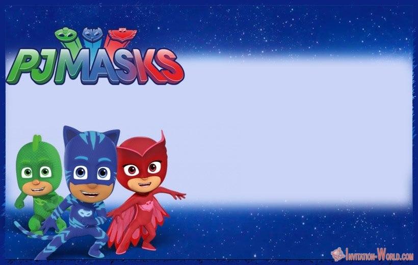 PJ Masks Editable Invitation - Free PJ MASKS Invitation Cards