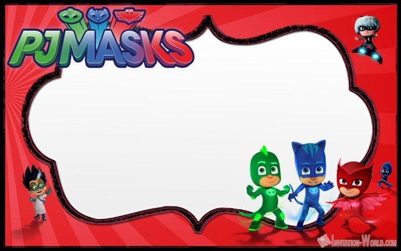 PJ Masks Invitation Free Printable - Free PJ MASKS Invitation Cards