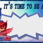 Personalized PJ Masks Invitation Blank 150x150 - Free PJ MASKS Invitation Card