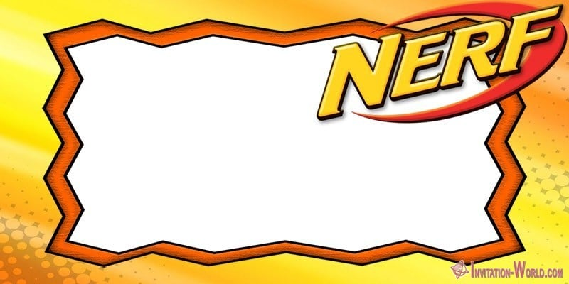 Printable Nerf Template Blank - Nerf Party Invitations - 5 FREE Templates