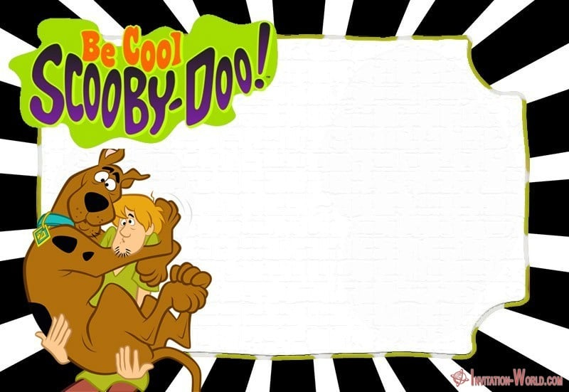 Scooby Doo Birthday Invitation Card - Scooby-Doo Birthday Invitation - Blank Templates
