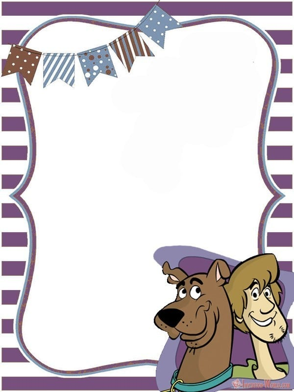 Scooby Doo Blank Invitation Template - Scooby-Doo Birthday Invitation - Blank Templates