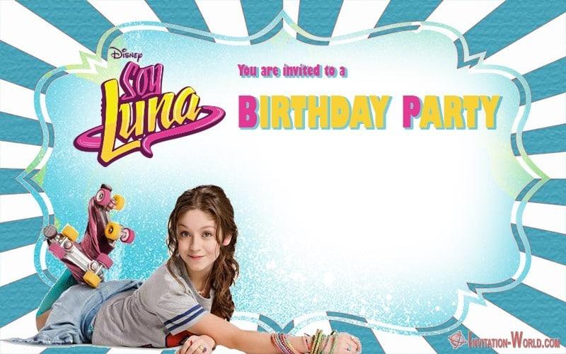 Soy Luna Birthday Party Invitation Printable - Soy Luna Birthday Party Invitations