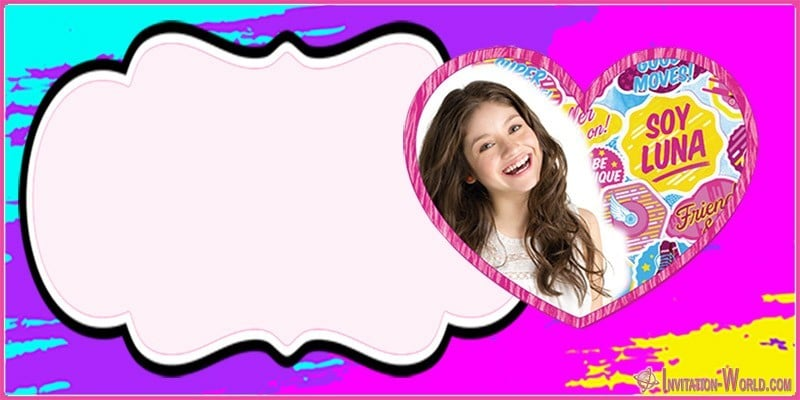 Soy Luna Invitation Template 150x150 - Soy Luna party Invitation Card