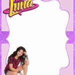 Soy Luna free invitation template 150x150 - Soy Luna Invitation Card