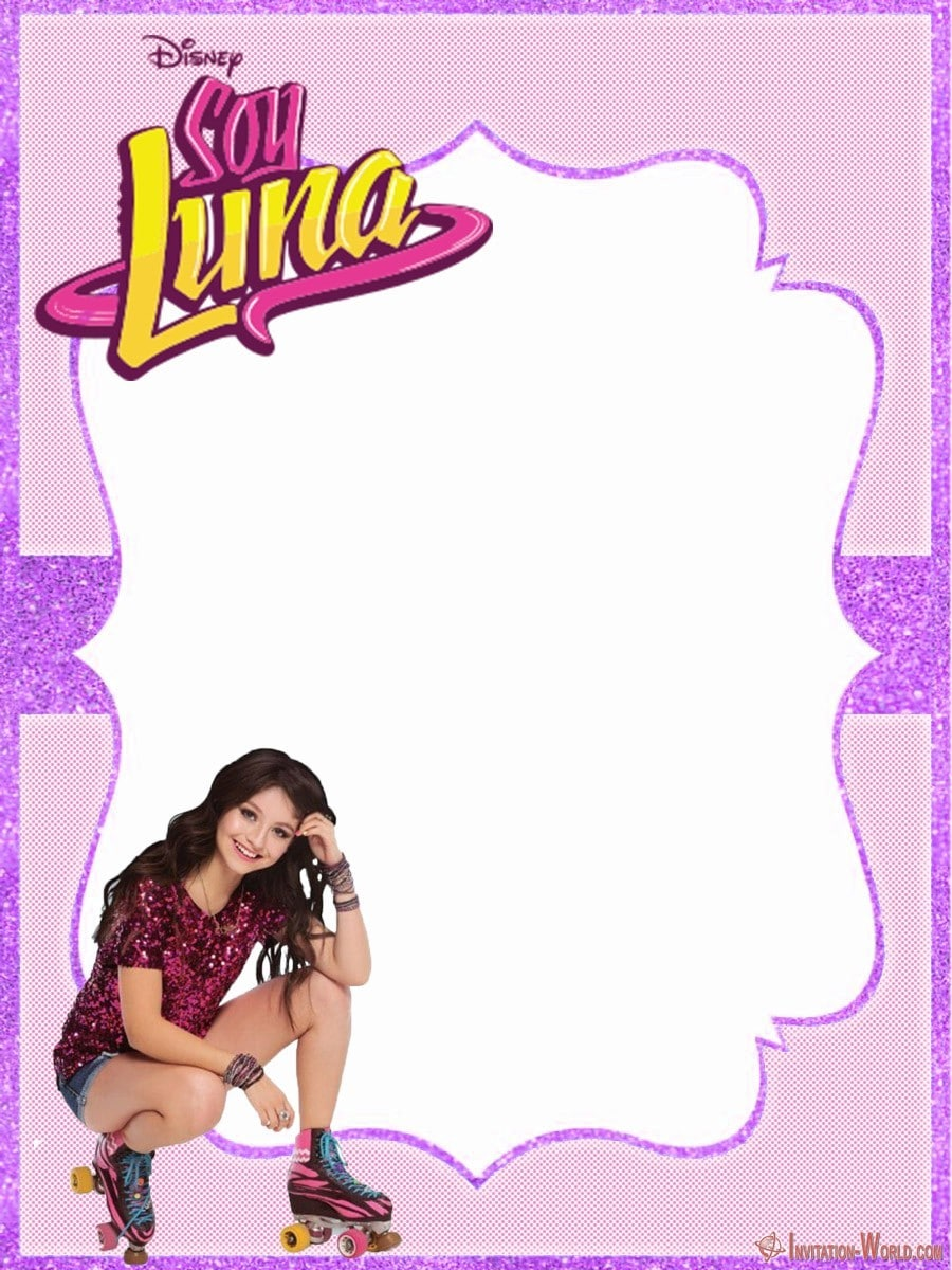Soy Luna free invitation template 900x1200 - Soy Luna Birthday Party Invitations