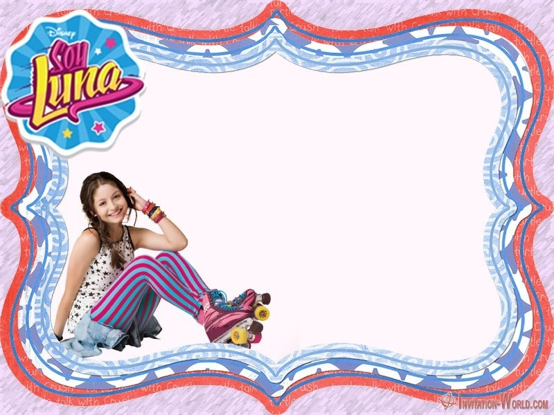 Soy Luna party Invitation Card - Soy Luna party Invitation Card
