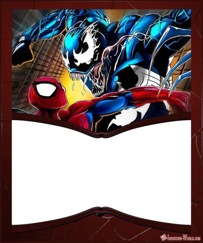 Spiderman Vs Venom Printable Template - Venom Invitation Templates - Free and Printable