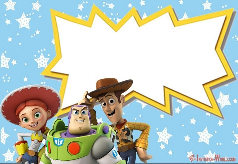 Toy Story birthday invitation template - Toy Story Invitations - Free Download