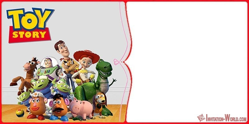 Toy Story invitation Blank - Toy Story Invitations - Free Download