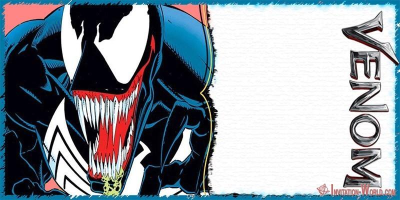 Venom Invitation Card Template 150x150 - Marvel Venom Invitation Card
