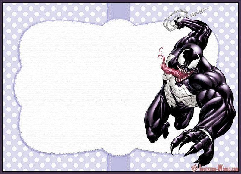 Venom Invitation Template - Venom Invitation Templates - Free and Printable
